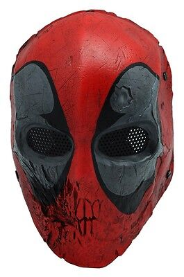 COOL Full Face Wire Mesh Protection CS Paintball Skull Mask Prop Halloween F579