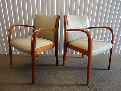 Astounding Gunlocke Pair Of Liza Guest Dining Arm Chairs Mid Century Uwap Interior Chair Design Uwaporg