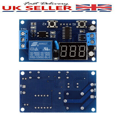 12V LED Digital Delay Time Module Switch Control Relay Cycle Timer PCB Board