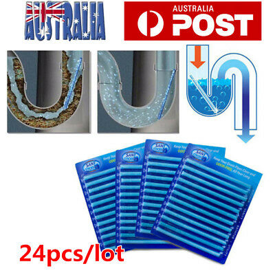 24X Drain Cleaner Stick Kitchen Toilet Bathtub Drain Cleaner Sewer Cleaning Rod