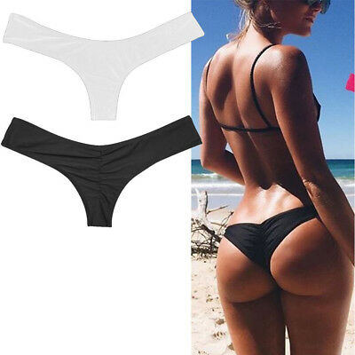 Sexy Womens Lady Bikini Brazilian Cheeky Bottom Thong V Swimwear Swimsuit Briefs