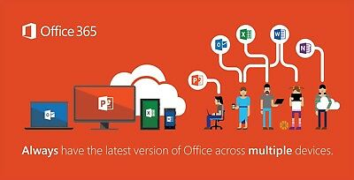 Microsoft Office 365 1 Year Subscription (1 User - 5 Devices)