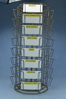 Vintage COUNTRY STORE COUNTER TOP ROTATING POST CARD DISPLAY RACK HTF OLD #04949