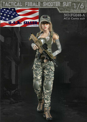 1//6 female Navy SEALs Combat Military suit Camouflage for phicen hot toys ❶USA❶