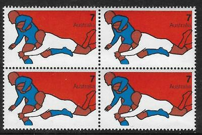 AUSTRALIA 1974 Sports RUGBY Block of 4 MNH