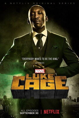 """010 Luke Cage - Netflix Mike Colter Super Hero TV 24""""x35"""" Poster"""