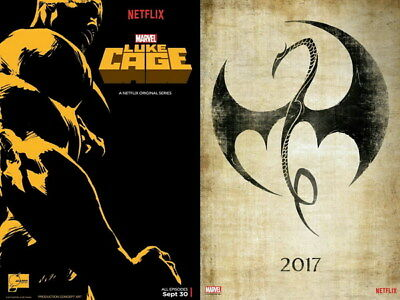 """004 Luke Cage - Netflix Mike Colter Super Hero TV 32""""x24"""" Poster"""