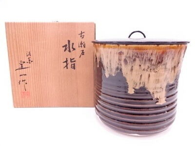 3447836: Japanese Tea Ceremony / Kozeto Mizusashi Water Jar By Teiichi Oketani