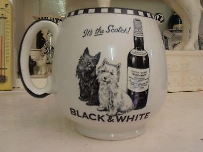 Rare Black & White Scotch Whisky Shelley Water Jug Two Terriers It's the Scotch