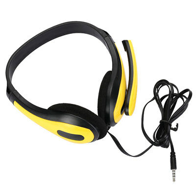 3.5mm Wired Stereo Over Ear Headset Headphone with Mic For Smart Phone
