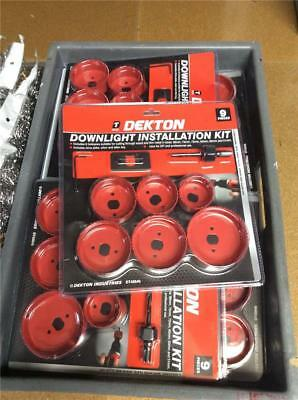 CLEARANCE LOT9 DEKTON 9 PC HOLE SAW SET KIT 88 75 72 65 60 51mm DOWNLIGHTS DRILL