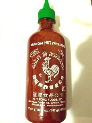 SRIRACHA HOT CHILI SAUCE 435ml Huy Fong Authentic Made In USA - FREE SHIP in Aus