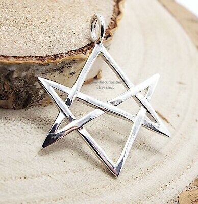 Unicursal Hexagram Pendant - Sterling Silver ( Aleister Crowley Thelema Magick)