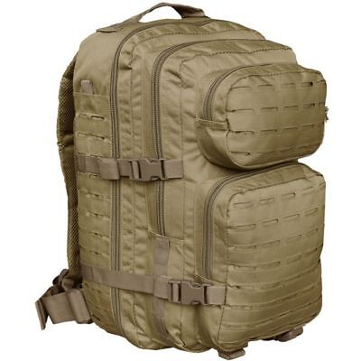 Mil-Tec 36L Large LASER CUT Assault US Tactical Backpack MOLLE Rucksack  Coyote 0411ab6a9b