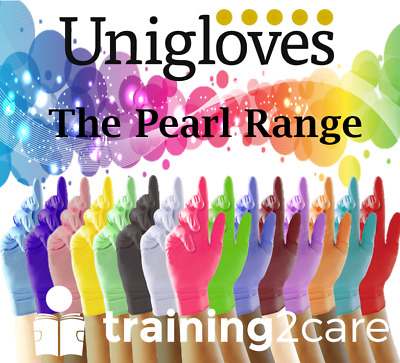 Nitrile Gloves disposable colours Powder free Uniglove tattoo spa salon dental