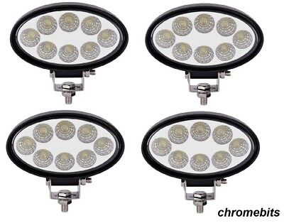 4X 12V 24V Led 24W Work Lamp Flood Oval Light Iveco Daf Man Scania Volvo