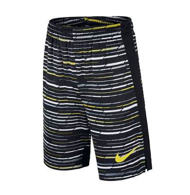 Nike Legacy Dry Training Shorts Dri-Fit Black Grey Lime 831152-358 $25 Boys M L
