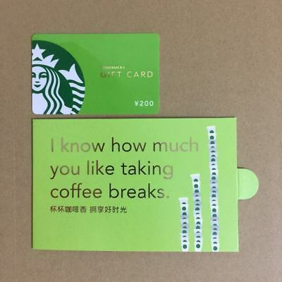 Rare Starbucks 2013 China Green Siren Gift Card With Sleeve Pin Intact