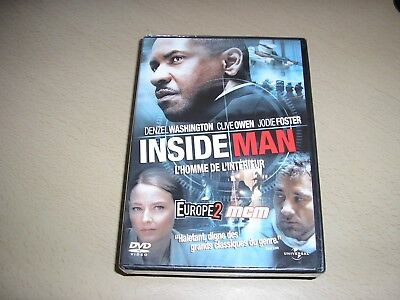 "DVD ,neuf sous blister,""INSIDE MAN"",denzel washington,jodie foster,clive owen"