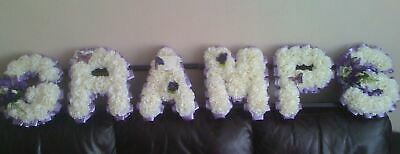 Gramps Grampy Artificial Silk Funeral Flower Any 6 Letter Name Wreath Tribute