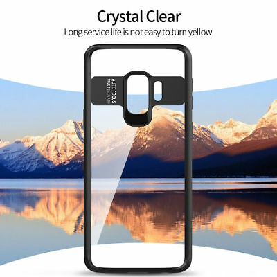 Shockproof Samsung Galaxy Cover Hard Case S7 Edge S8 S9 Note 8 Ultra Thin Black