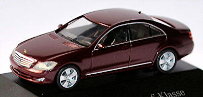 MERCEDES BENZ S KLASSE W221 2005 09 carneolrot red metallic 1 87