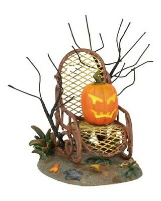 Dept 56 SV Halloween Haunted Porch Rocker #6001742 BRAND NEW 2018 Free Shipping