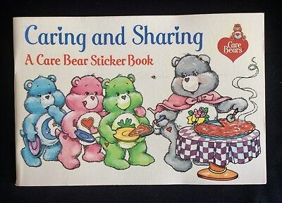 2 Vintage 1984 CARE BEARS Sticker/ Coloring Story Books, Pizza Hut Promo, unused