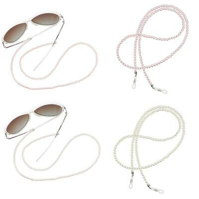 2x Pearl Beaded Eyeglass Chain Sunglasses Glasses Holder Necklace Retainer