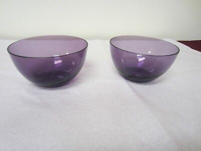 Pair of Antique Amethyst Purple Finger Bowls - Very Good Condition