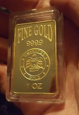 emirates Gold Plated bars x2