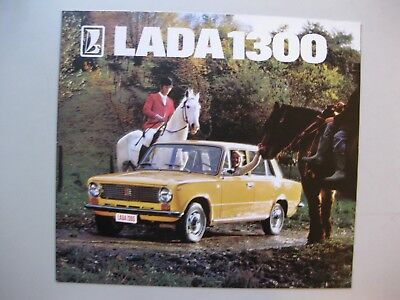 Lada 1300 folder brochure Prospekt Dutch text 12 pages 1976