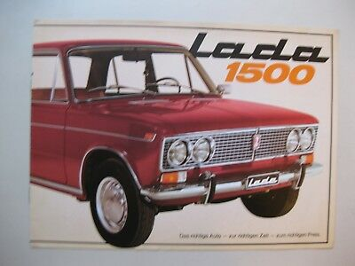 Lada 1500 brochure Prospekt German text Deutsch 8 pages 1974