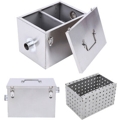 Commercial 5GPM Gallons Per Minute Grease Trap Stainless Steel Interceptor