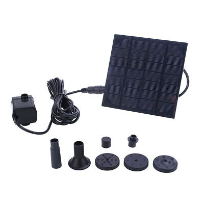 Solar Water Pump Watering Fountain Panel Kit Pool Home Garden Fish Pond