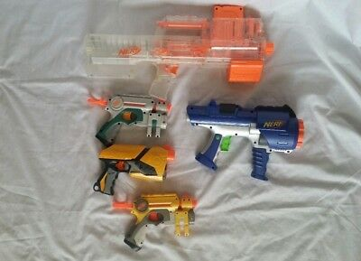 Nerf Gun Lot of 5 N Strike Blaster Dart Tag Nite Finder