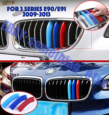 2009-2012 M Power Kidney Grille Decorate Trim Strip Cover BMW 3 Series E90 Е91