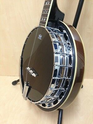 Caraya 5-String Ebony top Banjo,Mahogany Resonator,Tone Ring+Free Gig Bag |USA5|