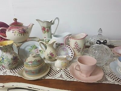 Bulk Lot Fine Bone, China, Ceramics, Shabby Chic, Roses, Kitchen Dining Set