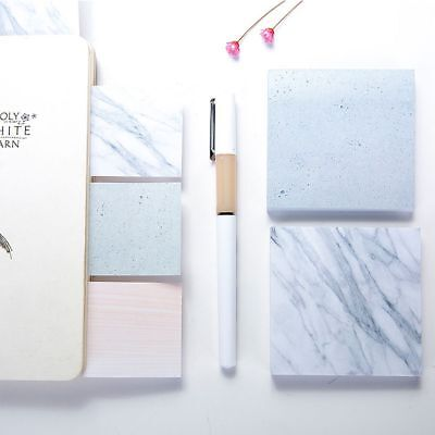 Sticky Tearable Creative Square Notebook Memo Pad Marble Texture Sticky Notes