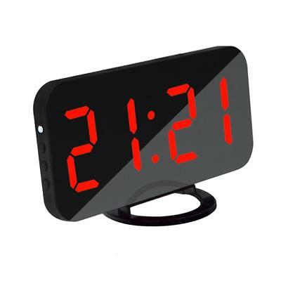 LED Digital Alarm Clock Snooze with USB Charging Port 12/24 Hr Display Red