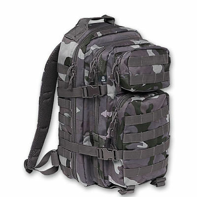 Brandit 8019.4 50L Tactical US Cooper 3 Day Assault MOLLE Backpack Dark Camo