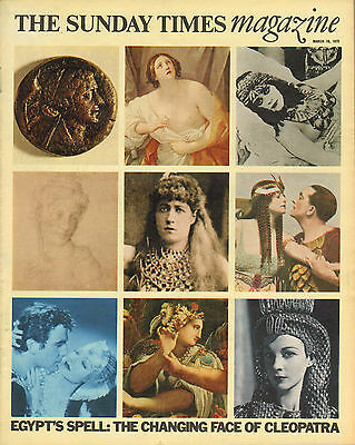 SUNDAY TIMES Magazine Mar 19 1972 Ancient Egyptian Art Marizina Odescalchi