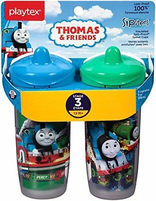 Playtex Sippy Cup Thomas Tank Leakproof Insulated Sipsters Toddler Baby Spout