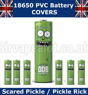 Pickle Rick Rick and Morty 18650 PVC Heat Shrink Wrap Battery covers & Others