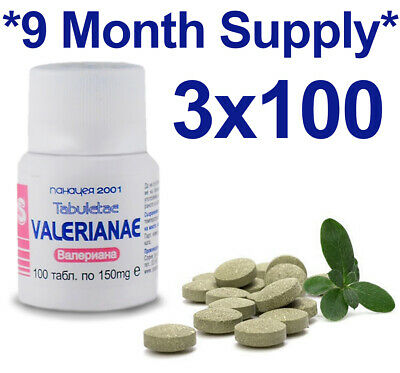 Valerian 100% Natural Herbal Tabs Sleep Insomnia Anxiety Depression Stress