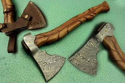 "20"" Damascus Steel Hand Made Heavy Duty Axe Knife"