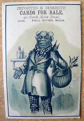 Vintage Black Americana Victorian Trade Card Advertising Cards For Sale