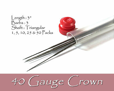 40 Gauge crown felting needles.