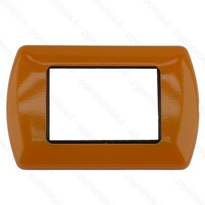 Placca Bticino Living International Compatibile In Metallo 3 4 7 Moduli Arancio